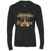 Elohim, one true God! NL6021 Next Level Unisex Triblend LS Hooded T-Shirt