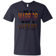 BE A WARRIOR! Men's Printed V-Neck T