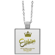 Elohim! Square Necklace