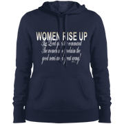 WOMEN RISE UP! LST254 Sport-Tek Ladies' Pullover Hooded Sweatshirt