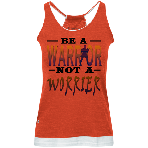 BE A WARRIOR! Juniors' Vintage Heathered Tank