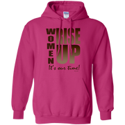 women rise up brown!  G185 Gildan Pullover Hoodie 8 oz.