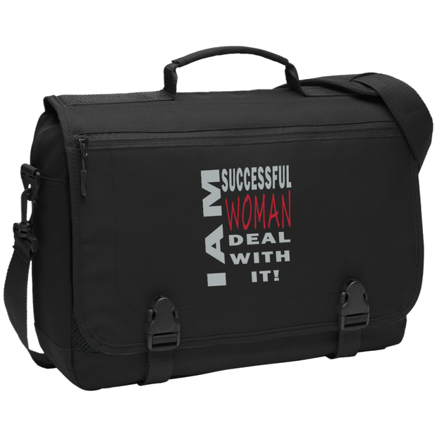 I am successful woman!Messenger Briefcase