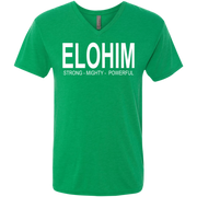 Elohie, strong and powerful! NL6040 Next Level Men's Triblend V-Neck T-Shirt