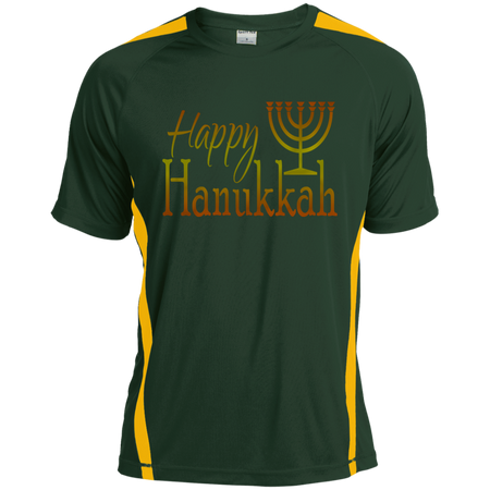 HAPPY HANUKKAH! Tall Colorblock Competitor Tshirt