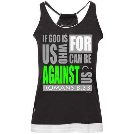 IF GOD IS FOR US!  Juniors' Vintage Heathered Tank