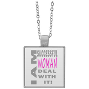 I am successful woman!Square Necklace