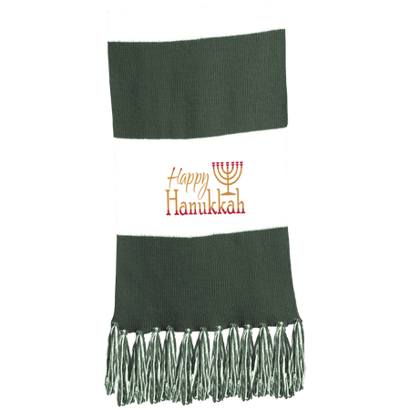 HAPPY HANUKKAH! Fringed Scarf