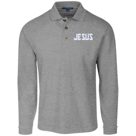 JESUS/Long Sleeve Pique Knit Polo