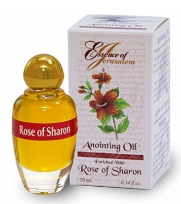 Rose of Sharon - Essence of Jerusalem Anointing oil - 10ml ( .34 fl. oz. ) from Israel