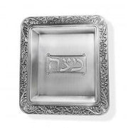 Majestic silver Plated Square Passover Matzah Tray, 12 by 12-Inch
