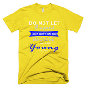 Short sleeve men's t-shirt ' do no let anyone""