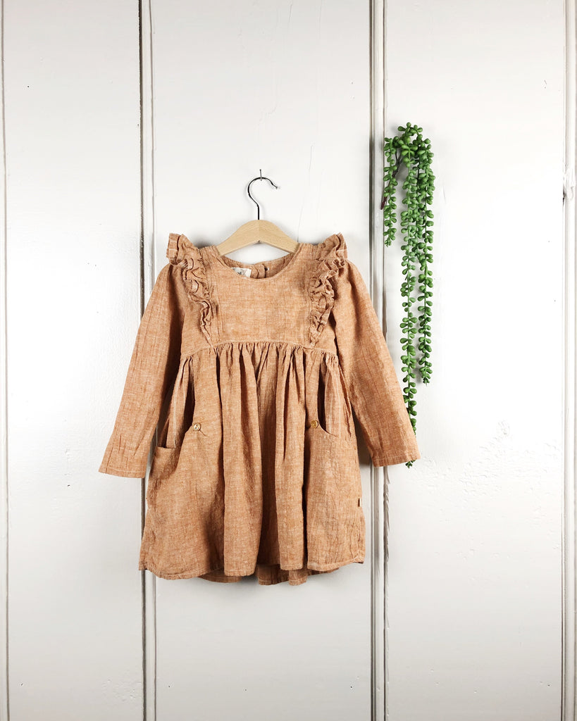 -Fall Colors- Linen Dress, Hemp/Cotton (Baby)