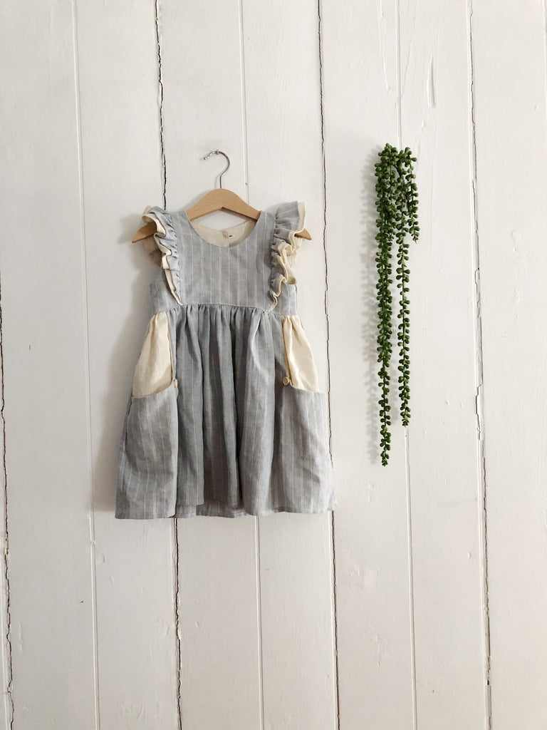 Linen Ruffle Dress (Baby)