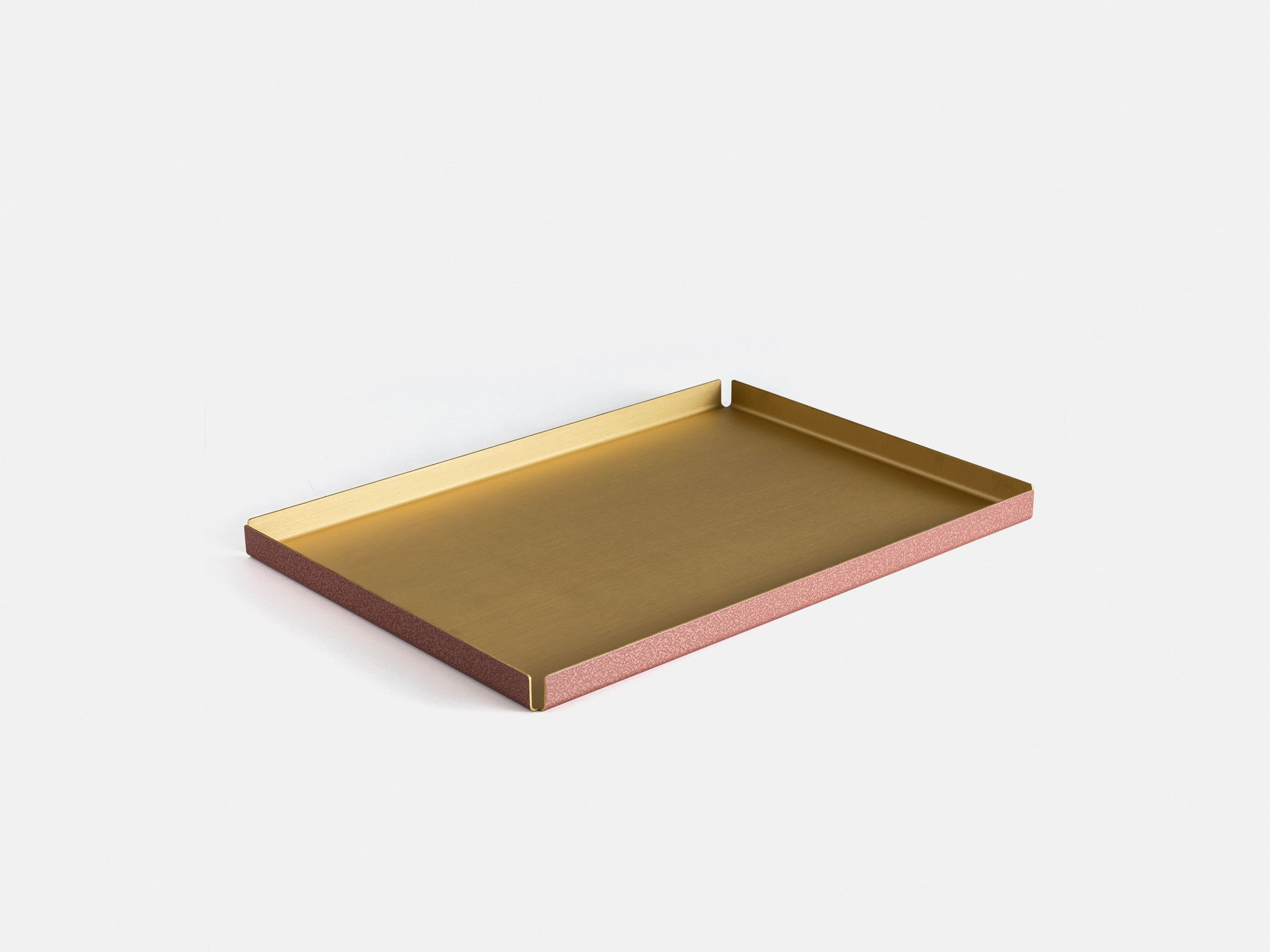 Other Kingdom - Large Hammertone Tray - Brass Serving Tray