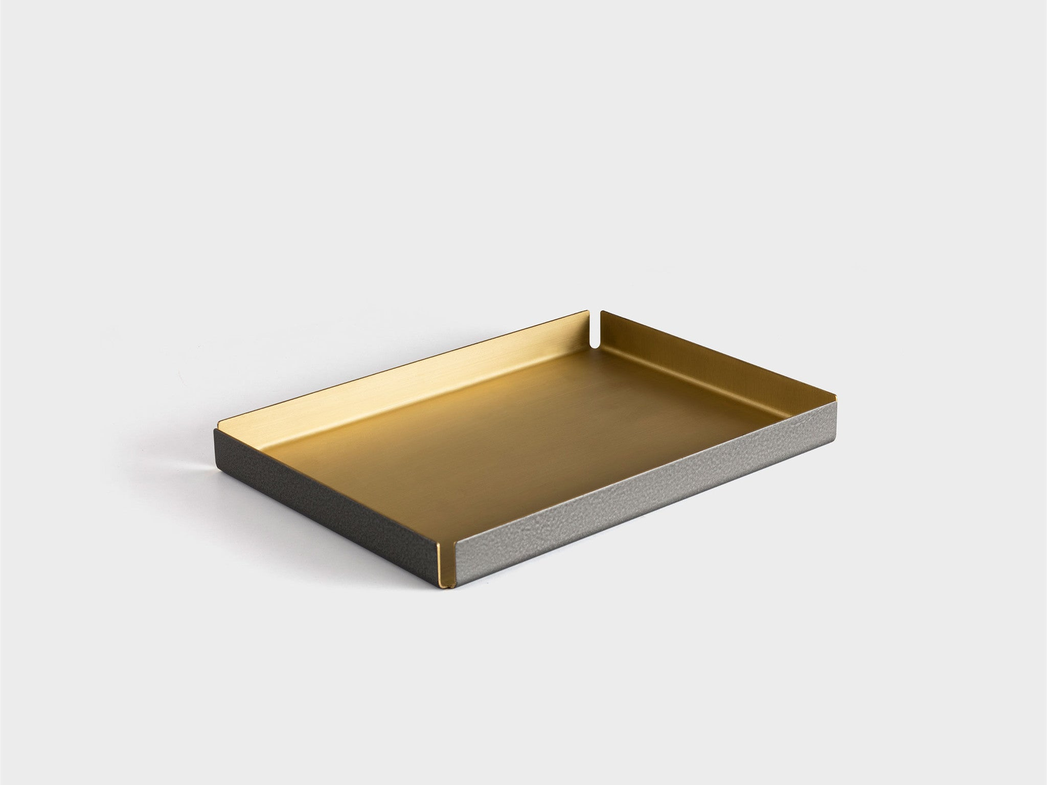 Other Kingdom - Medium Hammertone Tray - Brass Serving Tray