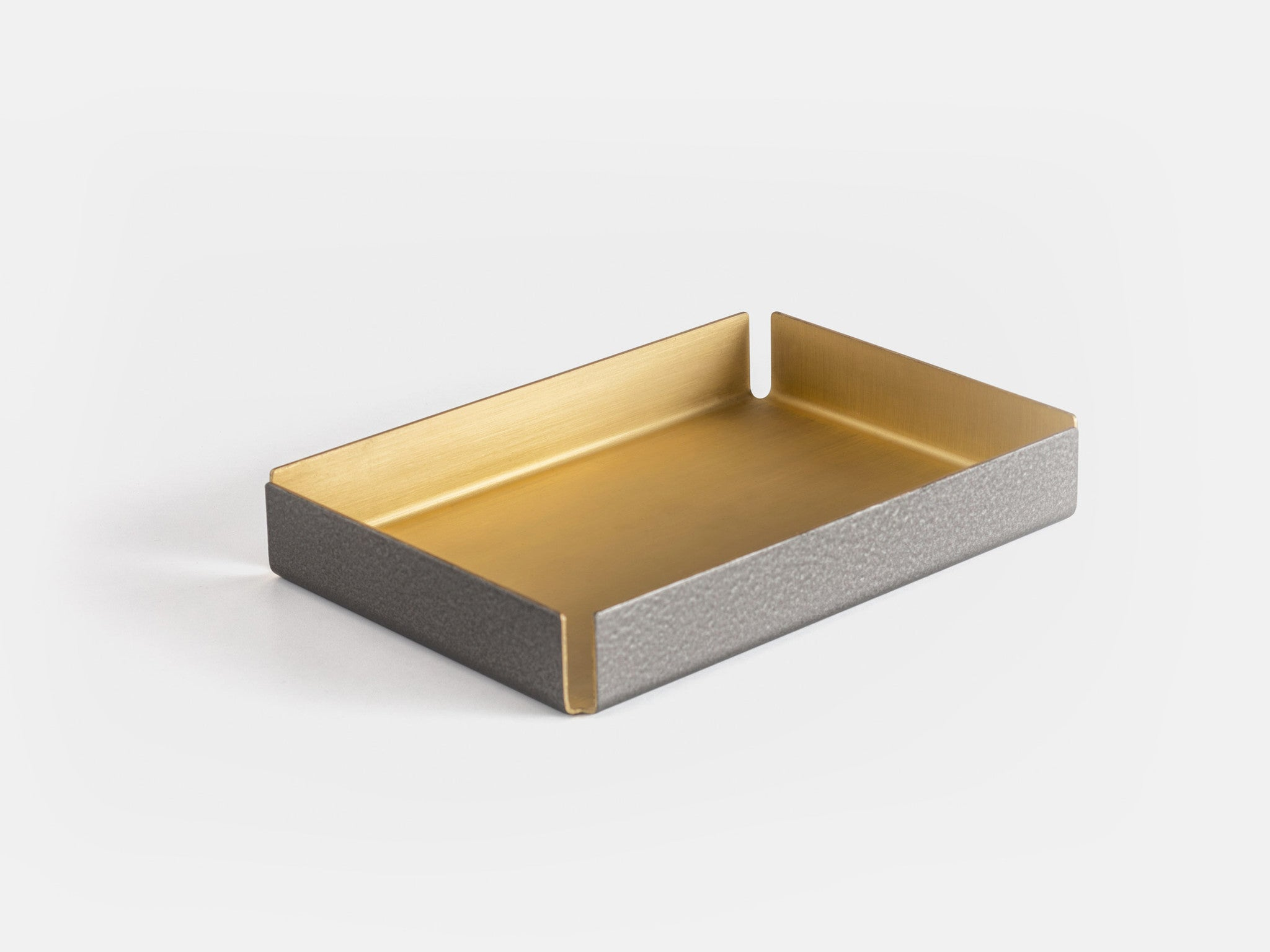 Other Kingdom - Small Hammertone Tray - Brass Serving Tray