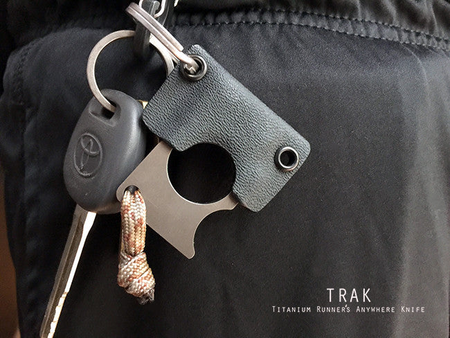 Titanium Key Rings - TRAK - Titanium Runner's Anywhere Knife
