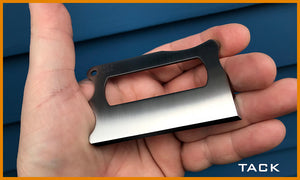 TACK - Titanium Wallet Knife ..  Pre-Order Only - TRAK - Titanium Runner's Anywhere Knife
