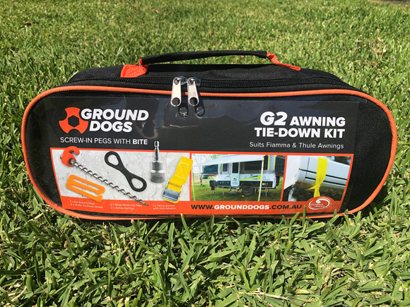 G2 Awning Tie Down Kit, to suit Fiamma & Thule awnings