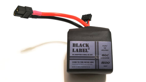 "Indestructible Quads ""Black Label Squared"" 4S True 80C Racing LiPo 1300mAh/1500mAh Battery"