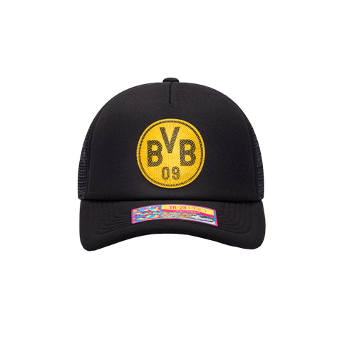 Black Borussia Dortmund Shield Trucker with yellow emblem