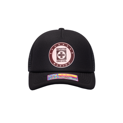 Black Cruz Azul Shield Trucker