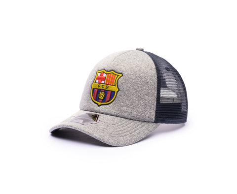View of left side of FC Barcelona Grayline Trucker Success