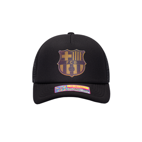 Black FC Barcelona Shield Trucker
