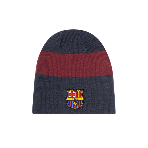 Grey FC Barcelona Fury Knit with burgundy stripe