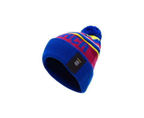 Blue Red yellow FC Barcelona Proud Beanie