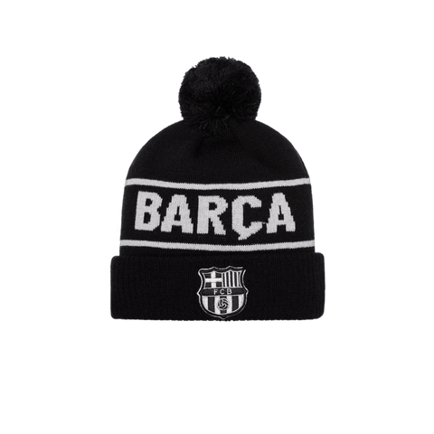 Black FC Barcelona Hit Beanie