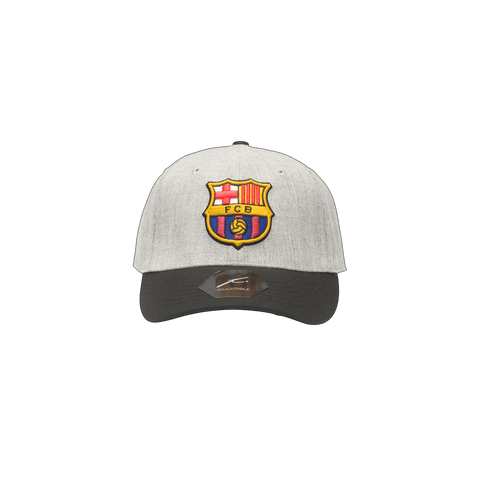 Grey FC Barcelona Post Game Adjustable with black bill