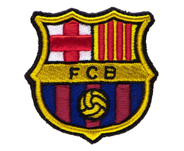Close up of FC Barcelona Team Patch Fitted emblem