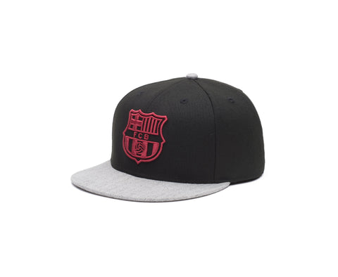 View of left side of FC Barcelona Player Snapback