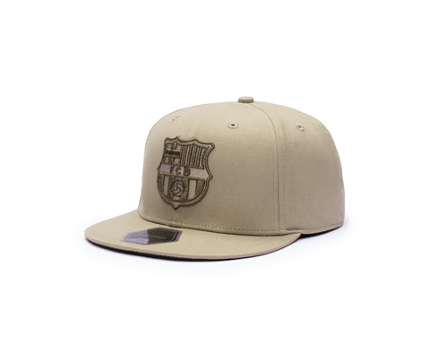 View of left side of FC Barcelona Desert Snapback
