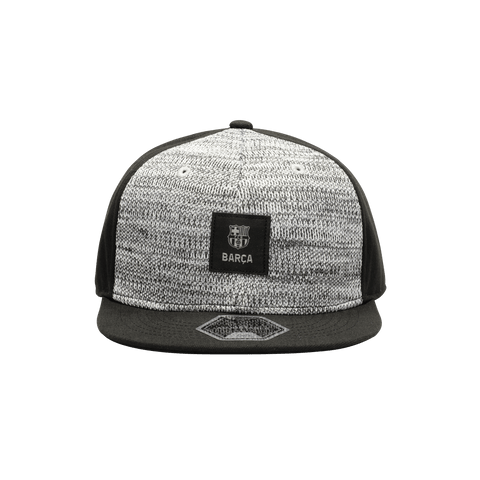 Black and grey FC Barcelona Playmaker Snapback with black bill