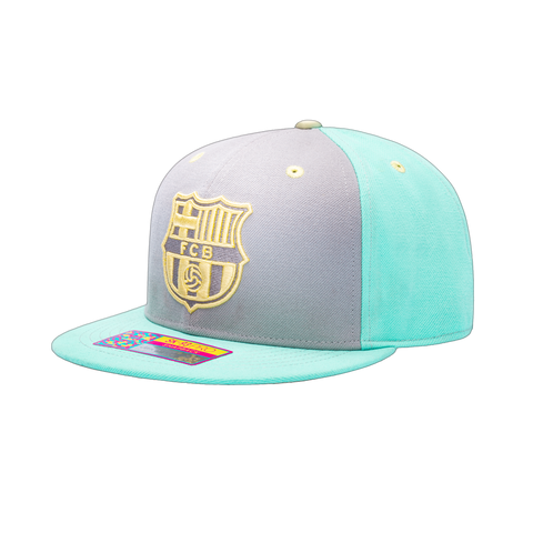View of left side of FC Barcelona Soft Touch Snapback