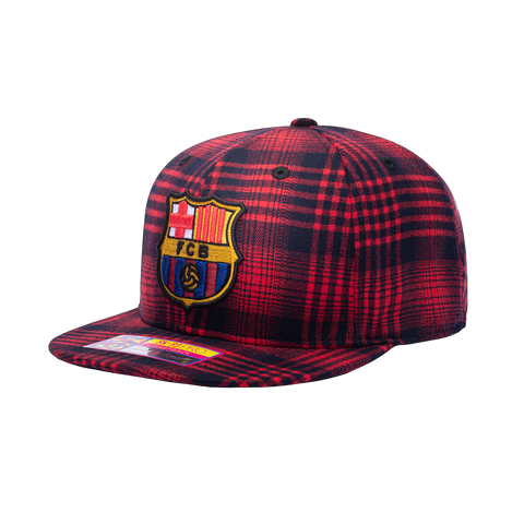 View of left side of FC Barcelona Hooligan Snapback