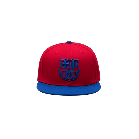 Red FC Barcelona Retro Capsule Snapback Hat