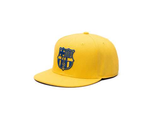 View of left side of FC Barcelona Retro Capsule Snapback Hat