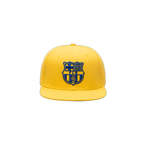 Yellow FC Barcelona Retro Capsule Snapback Hat