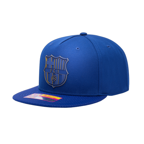 View of left side of Blue FC Barcelona Elite Snapback