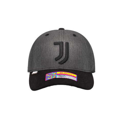 Grey Juventus Pitch Adjustable with Black bill JUVE