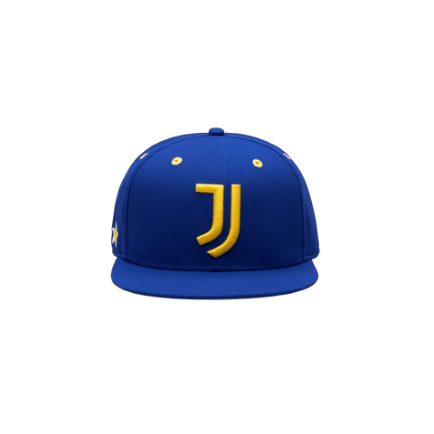 Blue Juventus Retro Capsule Snapback Hat with Yellow JUVE Stitching