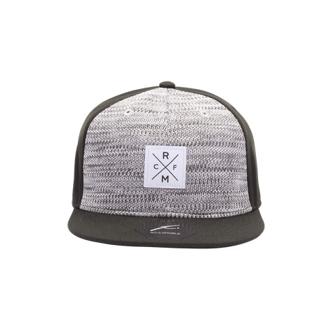Grey Real Madrid Playmaker Snapback with black bill and back panels