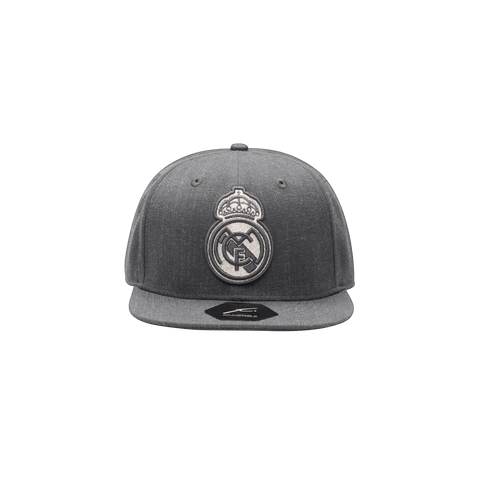Grey Real Madrid Platinum Snapback