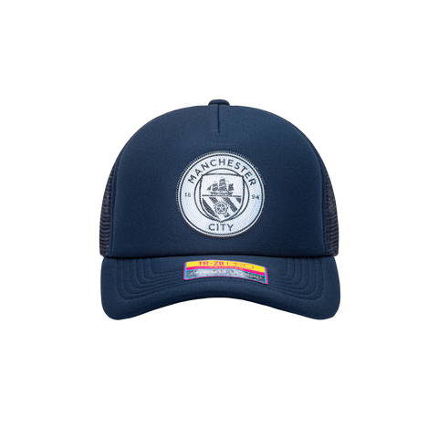 Blue Manchester City Shield Trucker