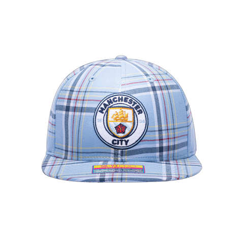 Manchester City Hooligan Snapback blue plaid