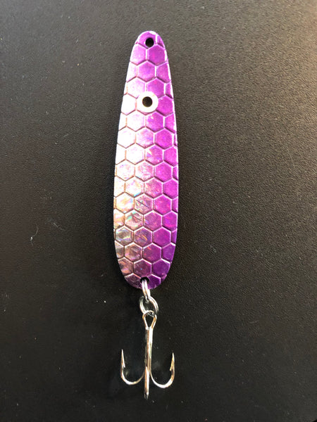 Purple High Flash Trolling Spoon